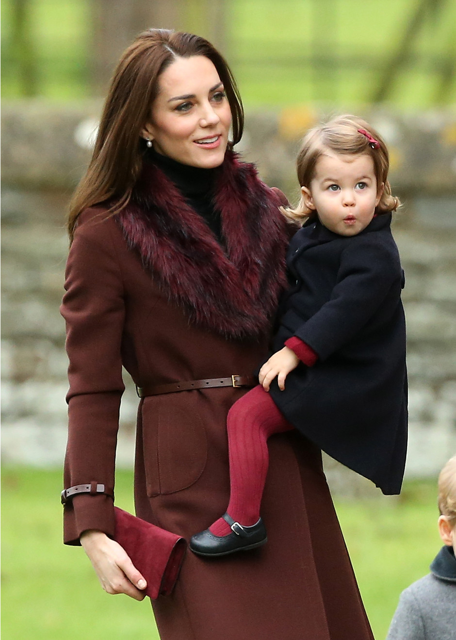 Герцогиня Кэтрин с дочерью