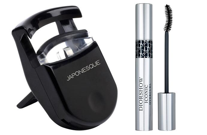 Щипцы для ресниц Japonesque Go Curl Pocket Eyelash Curler; Тушь Dior Diorshow Iconic Overcurl