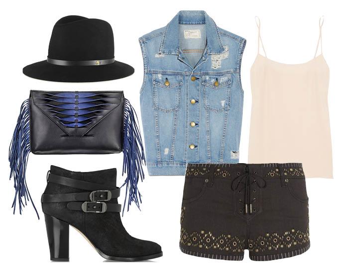 How to wear: жилет из денима 2