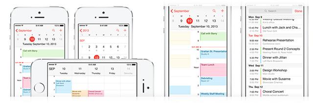 iPhone календарь
