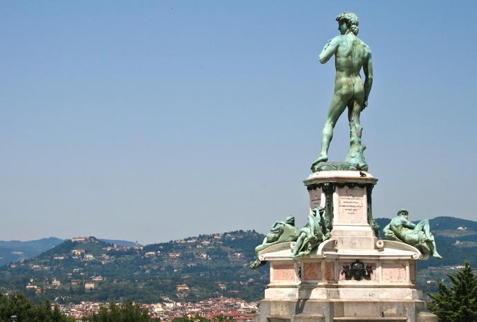 Пьяццале Микеланжело Флоренция статуя Давида