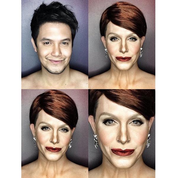 Филиппинский визажист перевоплотился в звезд с помощью макияжа | галерея [1] фото [14]