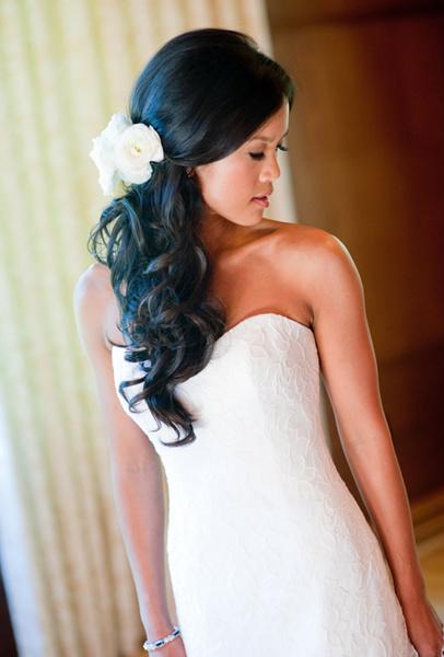 Как украсить цветами свадебную прическу | галерея [4] фото [3]