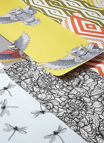 Обои из коллекции «Тату», дизайн Анны Муравиной.