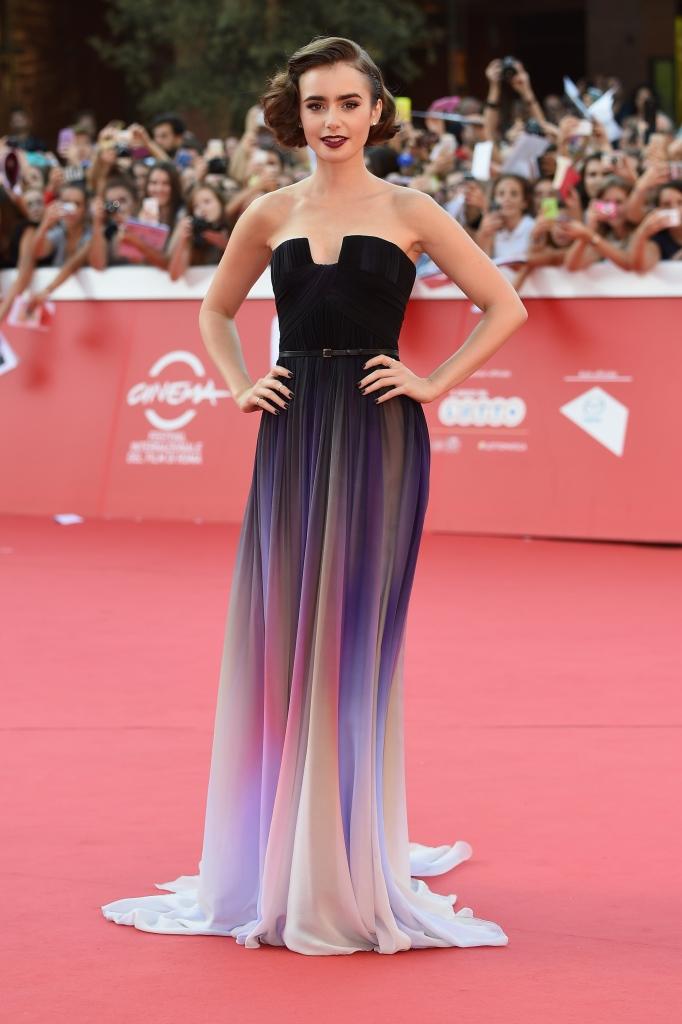 Лили Коллинз в Elie Saab Couture