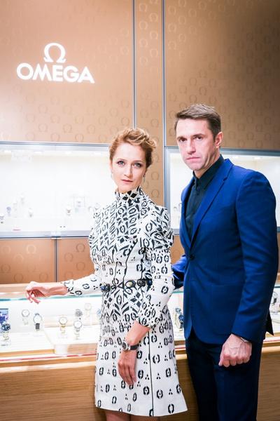 Звезды на открытии бутика Omega в галерее «Времена года» | галерея [1] фото [2]
