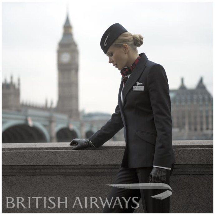 форма стюардессы фото British Airways