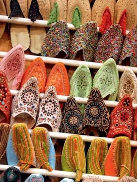 Традиционная марокканская обувь — бабуши