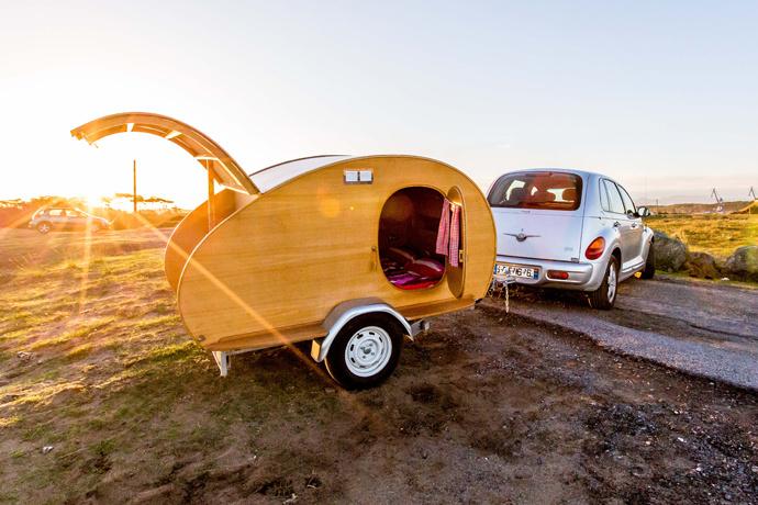 Домик-фургон, Франция