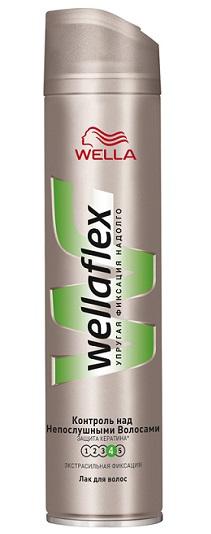Лак для волос экстрасильной фиксации «Контроль над непослушными волосами» Wellaflex от Wella