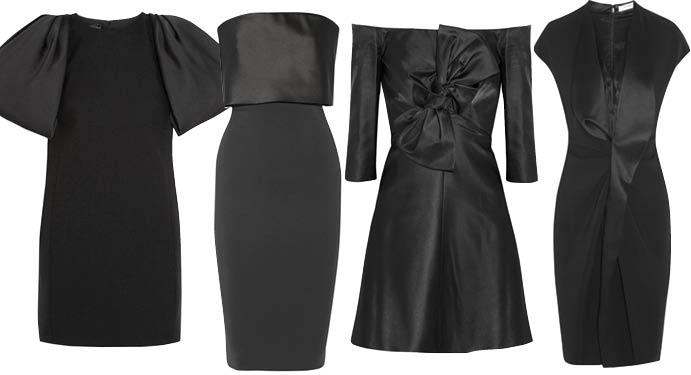 Маленькое черное платье с чистыми линиями силуэта