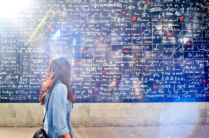 Стена любви Париж