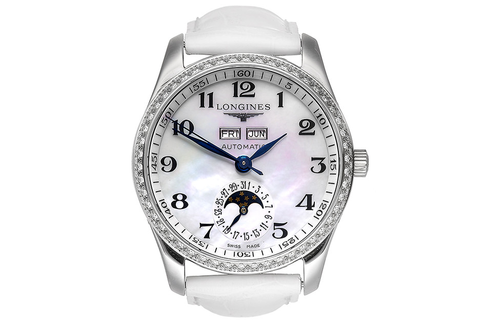 Часы Master Collection, сталь, бриллианты, Longines, 217 300 руб.