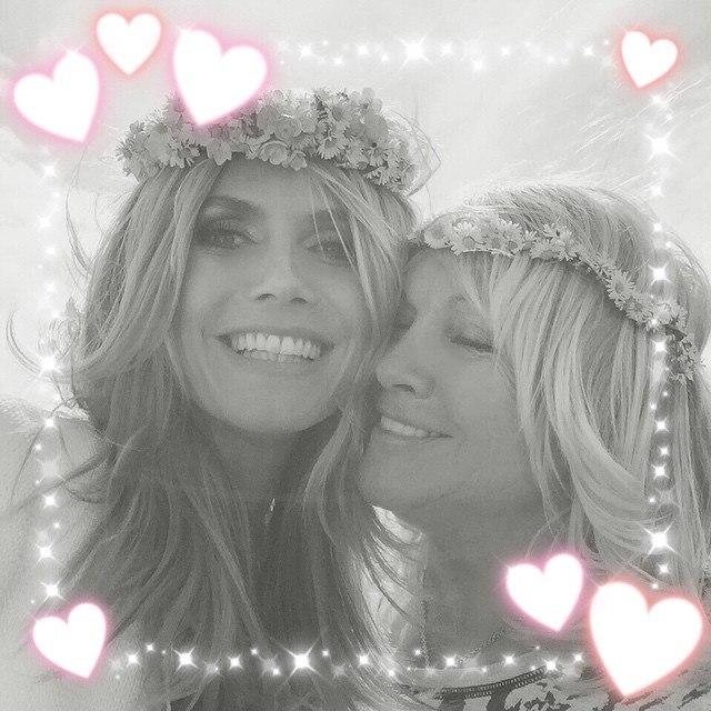 Хайди Клум с мамой: фото