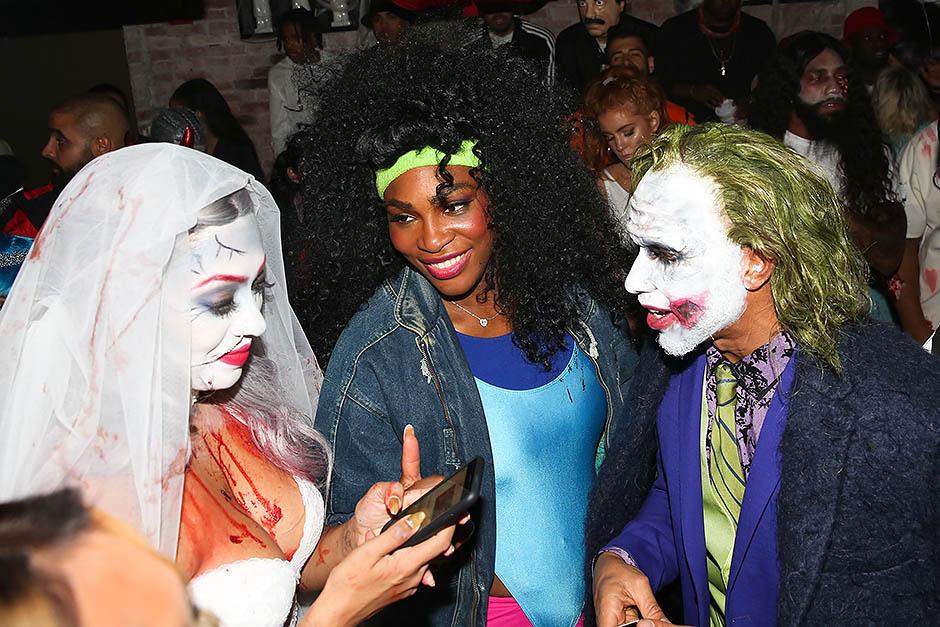 Серена Уильямс и Льюис Хэмилтон на вечеринке Хайди Клум