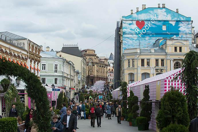 Пешеходные улицы в центре столицы