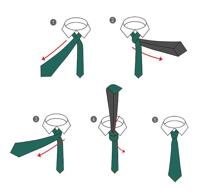 Как завязывать галстук схемы