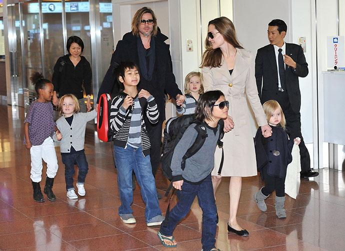 Звездная семья Джоли-Питт в полном составе