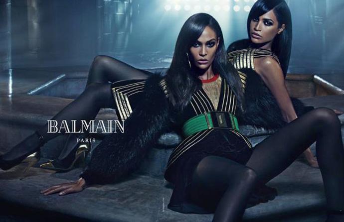 Джоан и Эрика Смоллс в рекламной кампании Balmain