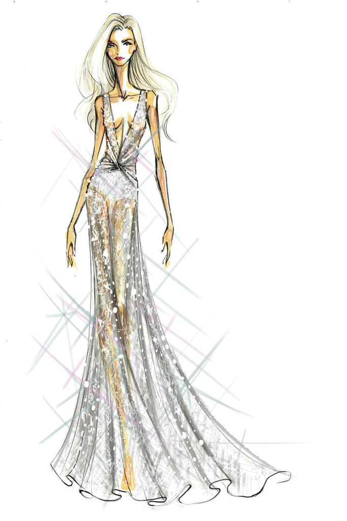 Свадебное платье Леди Гага от Diane von Furstenberg