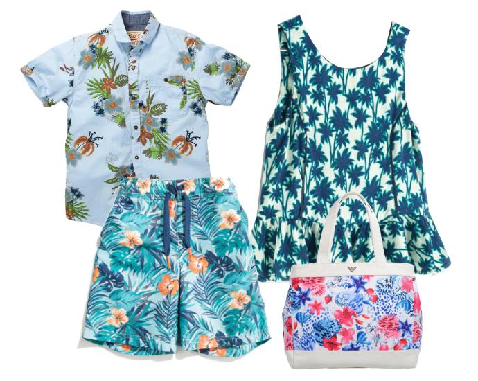 Выбор ELLE : рубашка Next, шорты Mexx, пляжная сумка Armani Junior, платье Zara