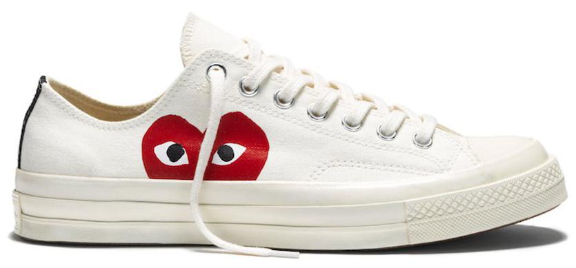 Белые низкие кеды Converse: фото