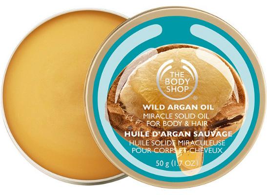 Твердое масло для тела и волос The Body Shop Wild Argana Miracle Solid Oil