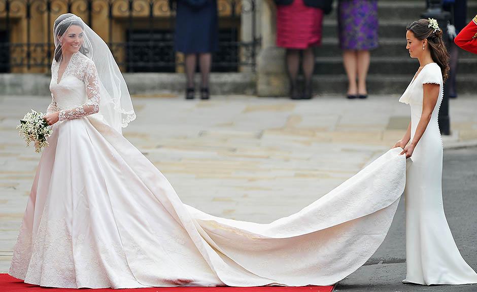 Пиппа Миддлтон на свадьбе старшей сестры Кейт