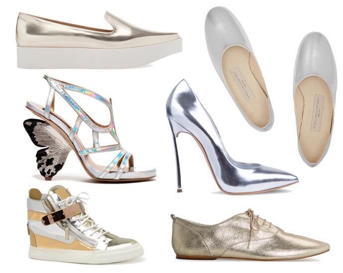 Металлик Модная обувь сезона весна лето 2014: тренды, фото лучших моделей.