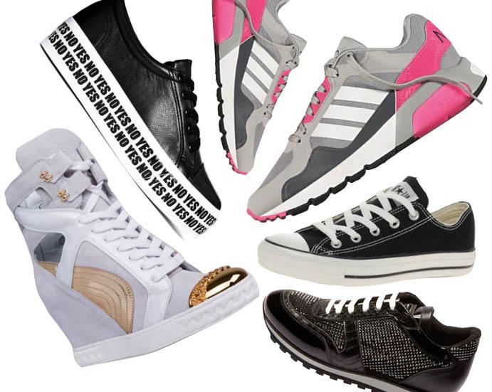 По часовой стрелке: Casadei; Asos; adidas NEO Label; Converse Chuck Taylor All Star; Philipp Plein