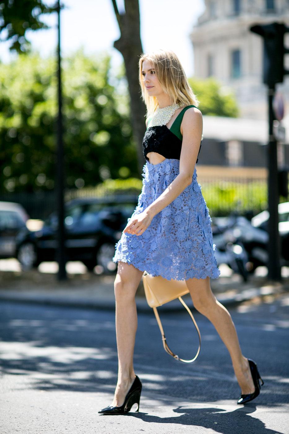 Неделя высокой моды в Париже стрит стайл