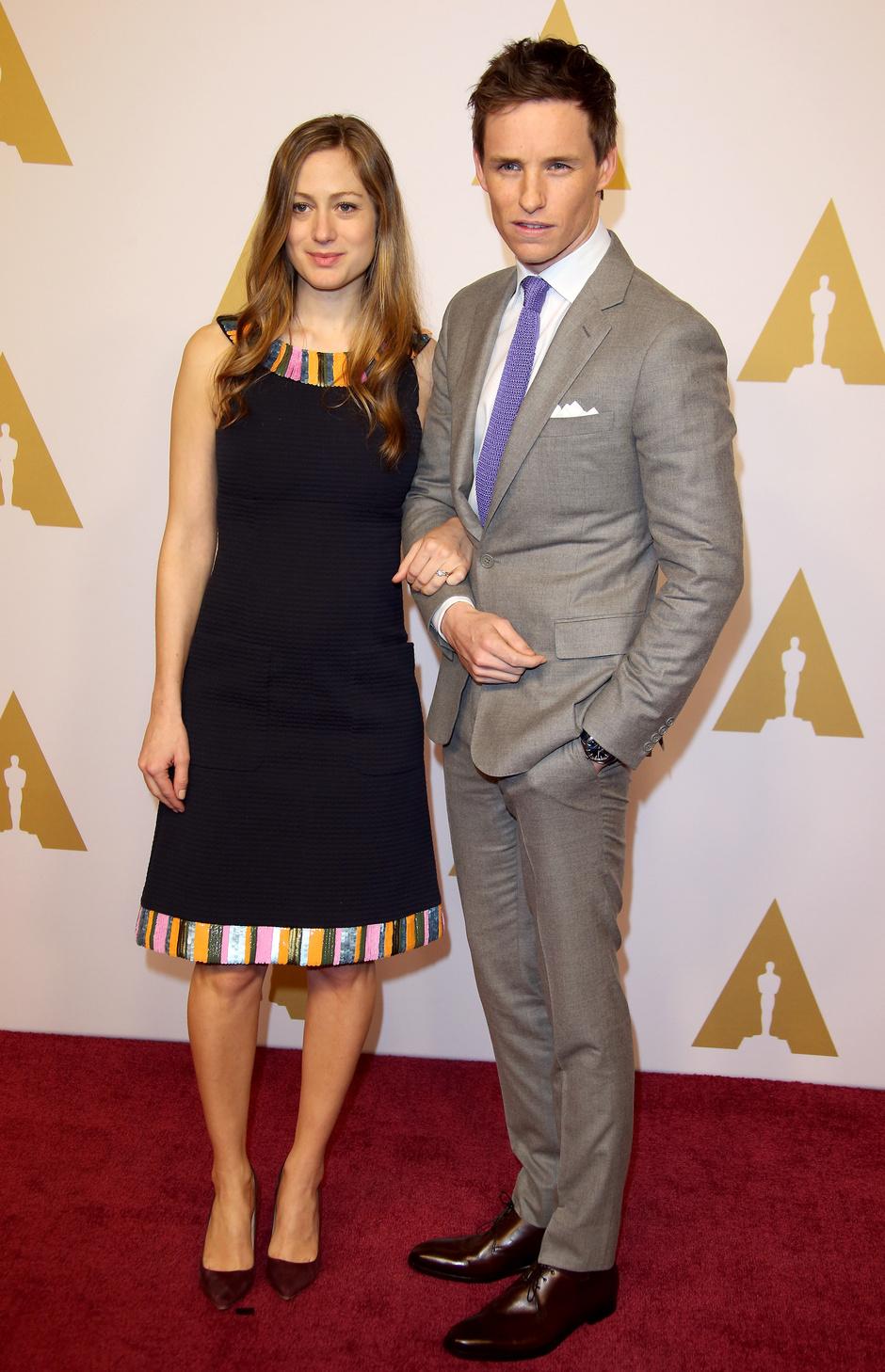 Эдди Рэдмейн с супругой