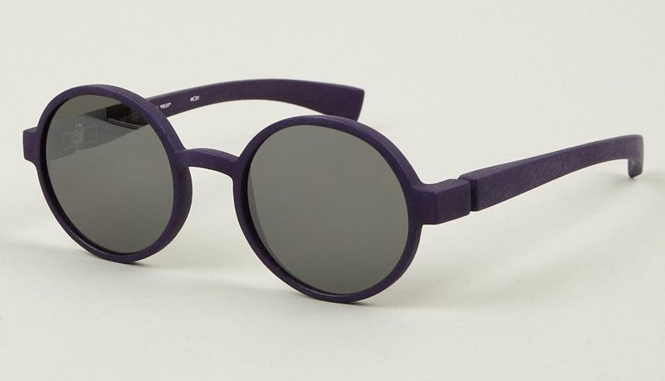 Модные солнцезащитные очки: цветная оправа, круглые стекла