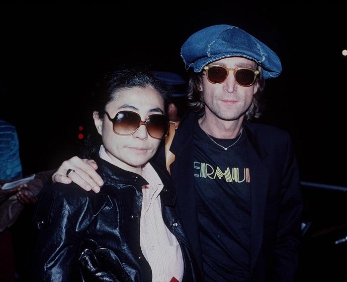 Джон Леннон и Йоко Оно в день убийства артиста