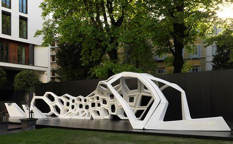Bvlgari и Заха Хадид представили инсталляцию Serpenti в Милане | галерея [1] фото [2]
