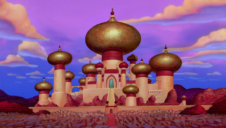 Замок султана из мультфильма «Аладдин»
