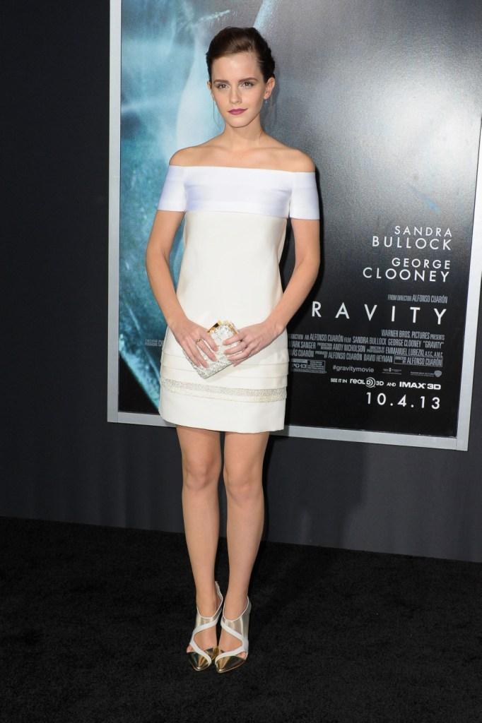 Эмма Уотсон в J. Mendel, премьера фильма «Гравитация» в Нью-Йорке