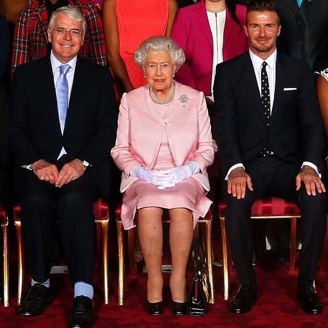 Дэвид Бекхэм встретился с королевой Елизаветой II