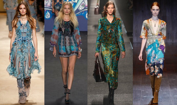Etro, Anna Sui, Louis Vuitton, Gucci