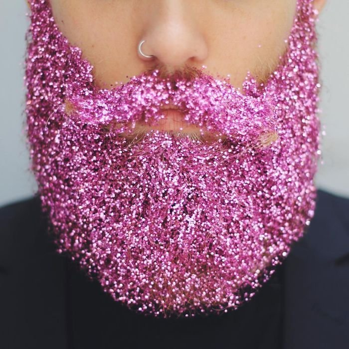 Глиттер борода