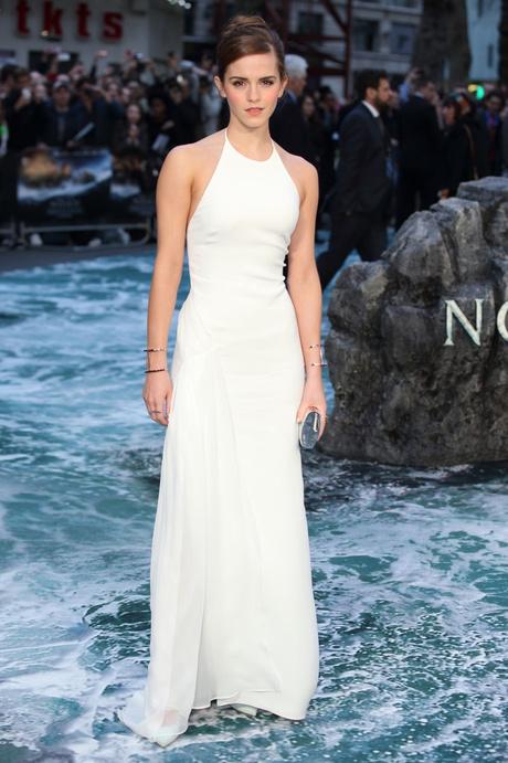 эмма уотсон в белом платье от ralph lauren collection