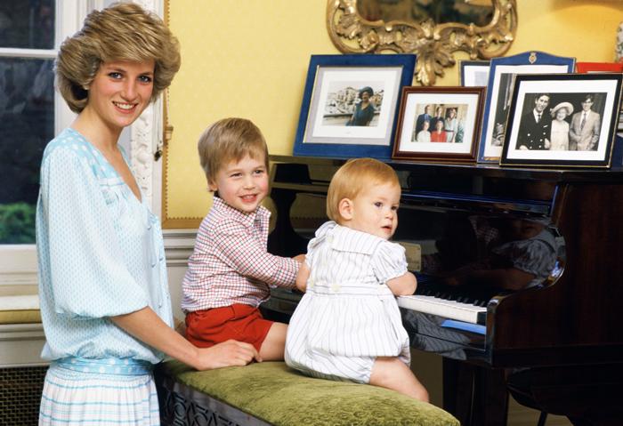 Принцесса Диана, принцы Уильям и Гарри