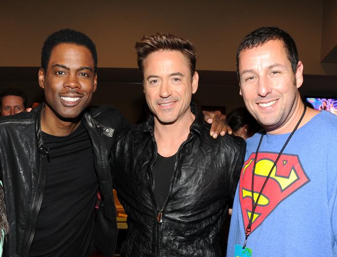 Крис Рок, Роберт Дауни младший и Адам Сендлер Kids Choice Awards 2014