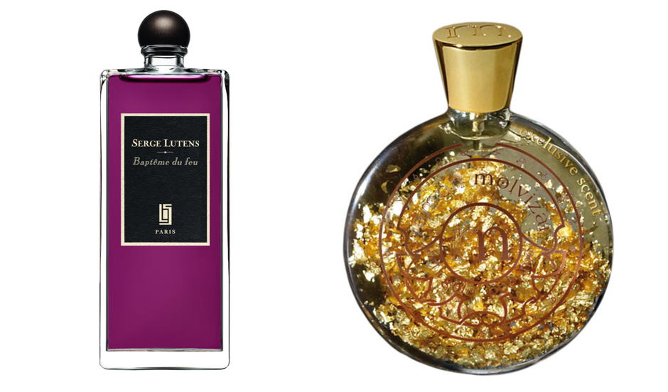1. Serge Lutens Bapteme du feu; 2. Ramon Molvizar Art & Gold & Perfume Exclusive Scent