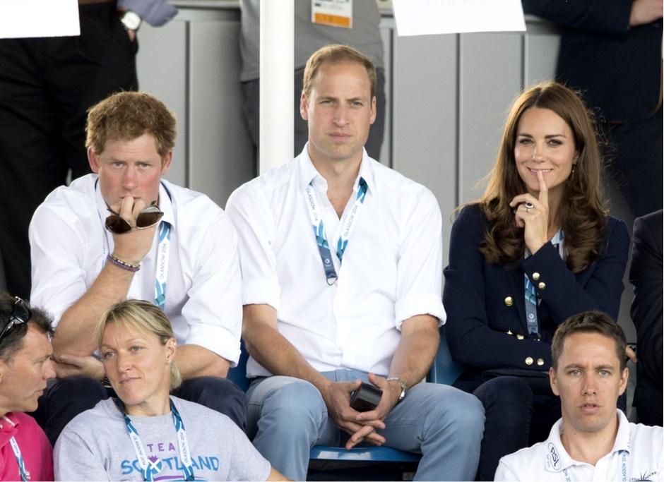 Принц Гарри, принц Уильям, герцогиня Кэтрин
