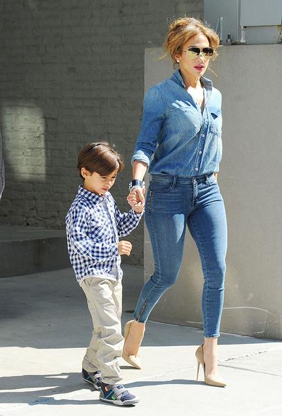 Дженнифер Лопес с сыном Максом