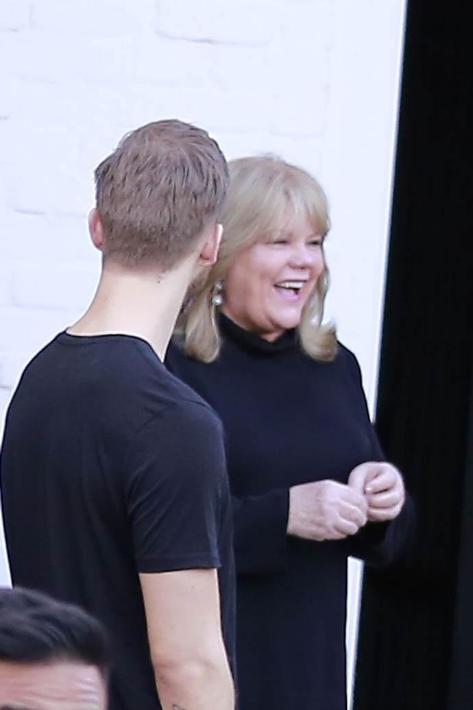 Кельвин Харрис с матерью Тейлор Свифт