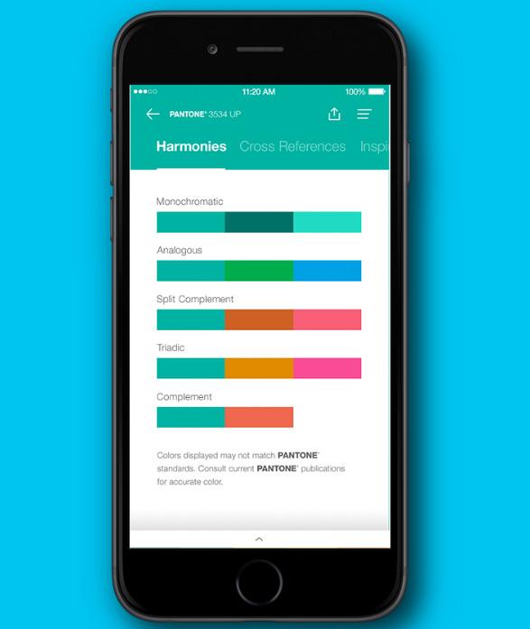 Мобильное приложение Pantone для iOS