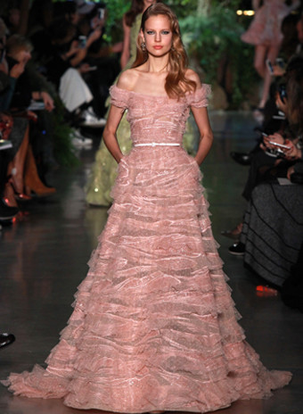 Показ Elie Saab Spring 2015 Couture