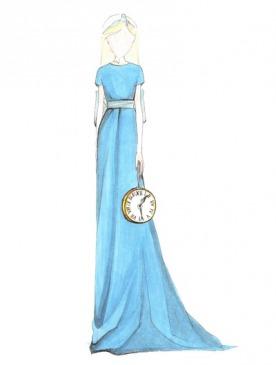 Эскиз платья Alexander Terekhov, вдохновленное «Алисой в Стране чудес»